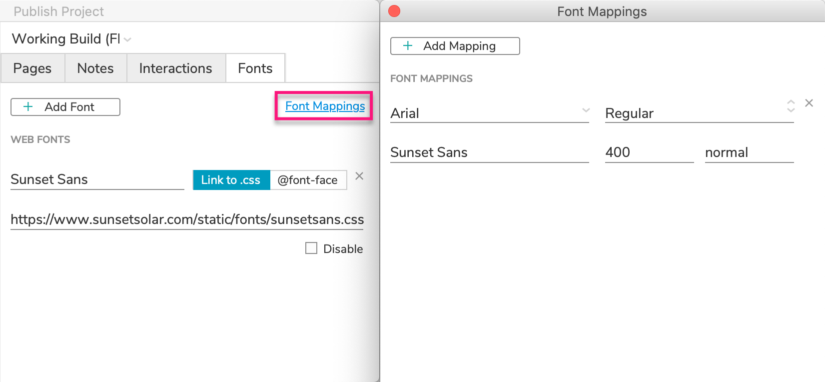 Web Fonts and Font Mapping · Axure Docs