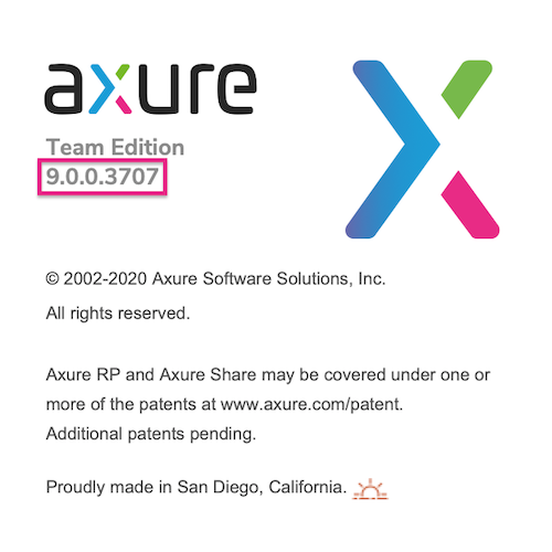 the Axure RP welcome screen