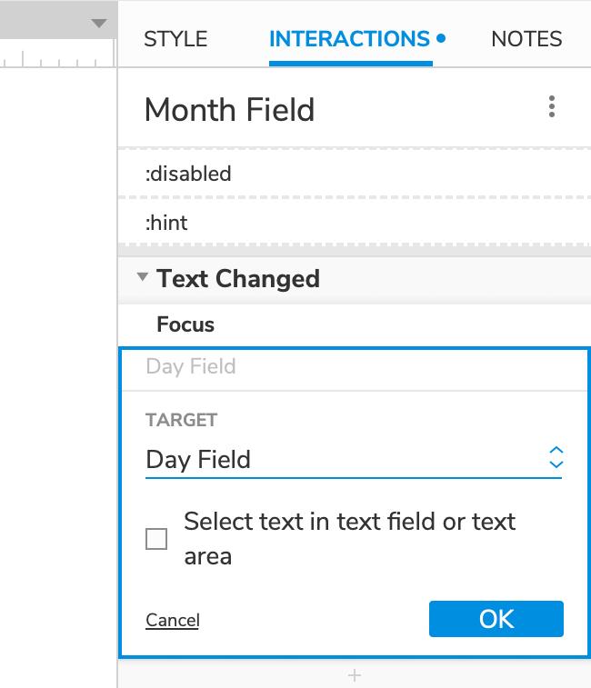 Auto Tab Fields Tutorial · Axure Docs