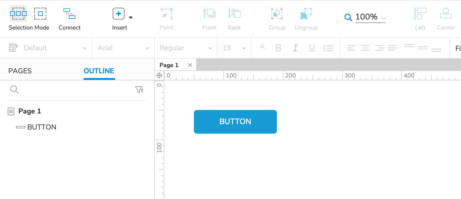 Interactive Button Tutorial · Axure Docs