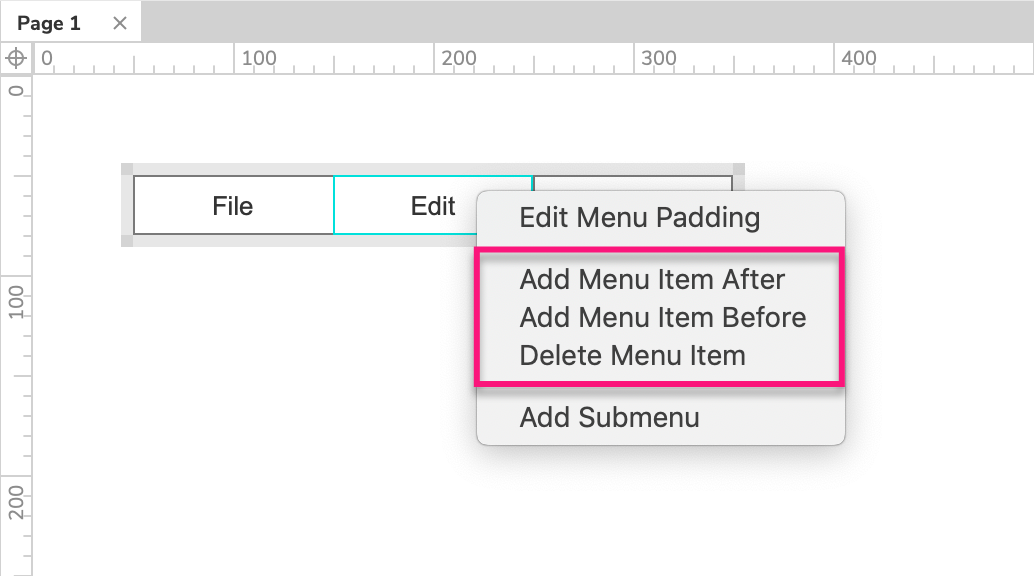 classic menu widgets: adding and removing items