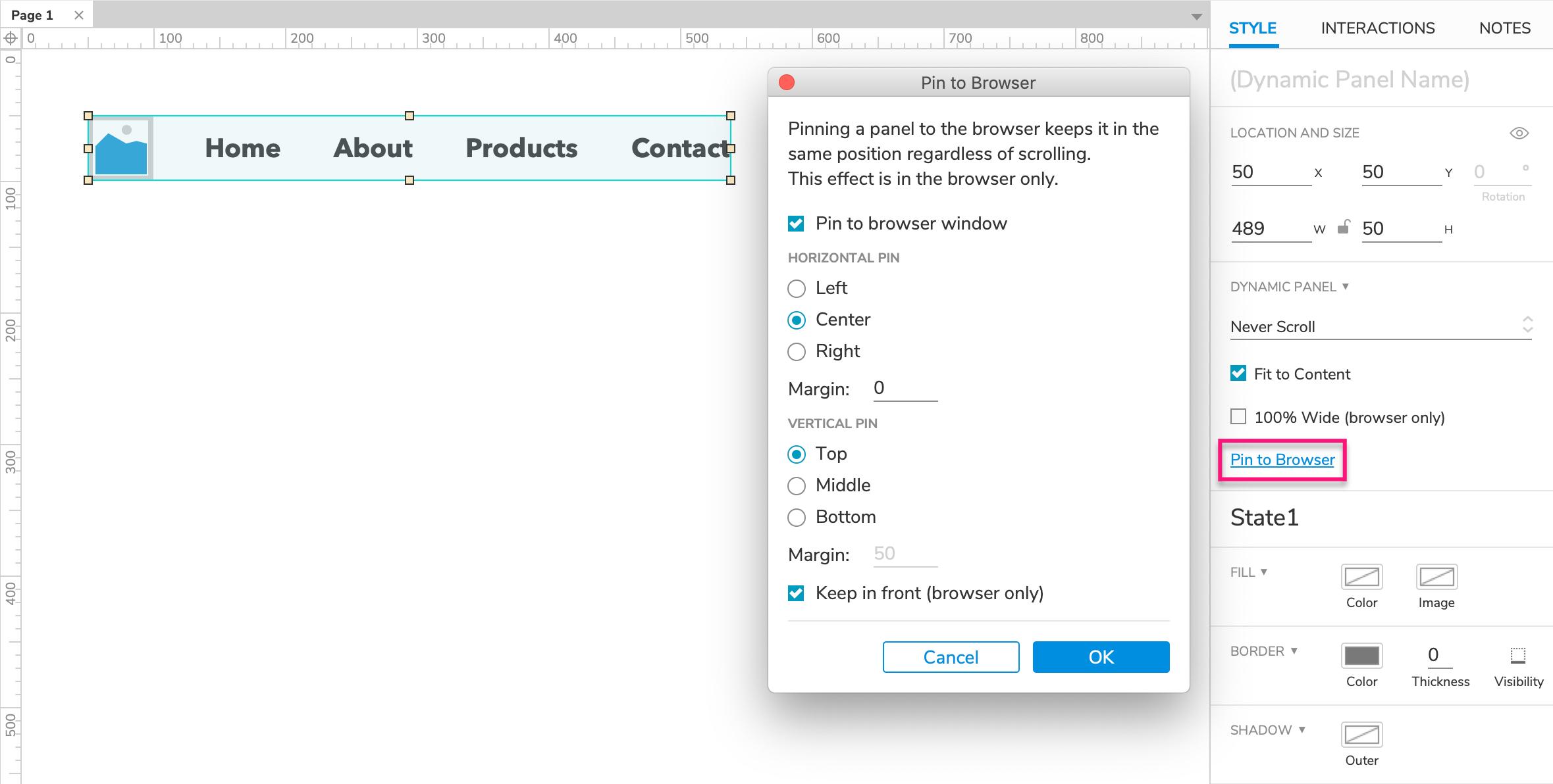 Dynamic Panel Widgets · Axure Docs