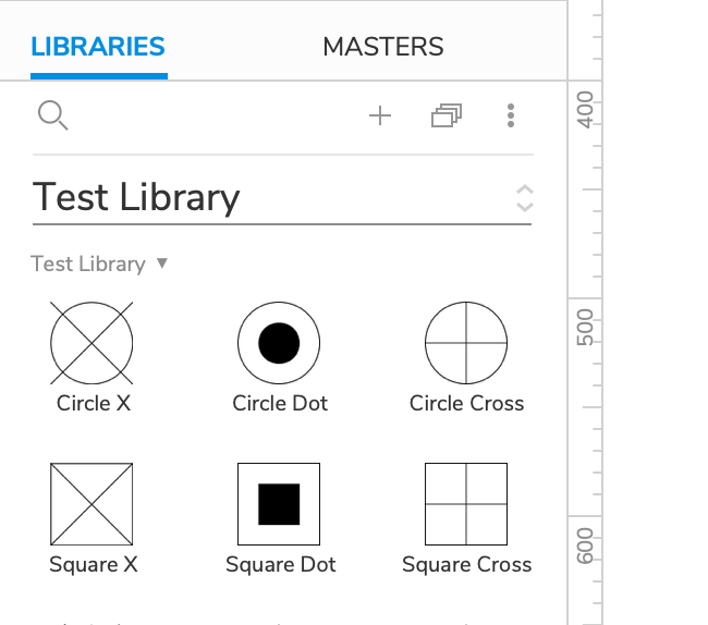 custom widget thumbnails in the Libraries pane