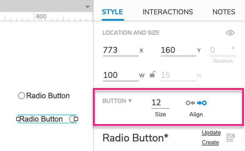 Radio Button Widgets · Axure Docs