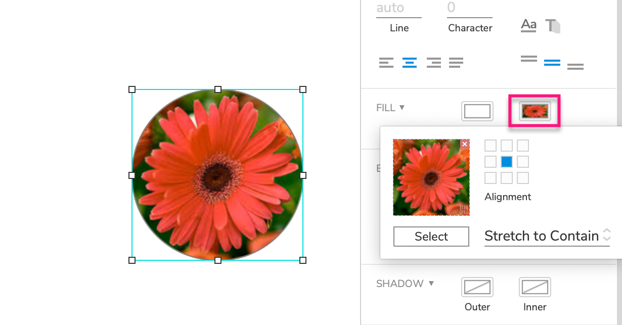 setting a shape's background fill to an image