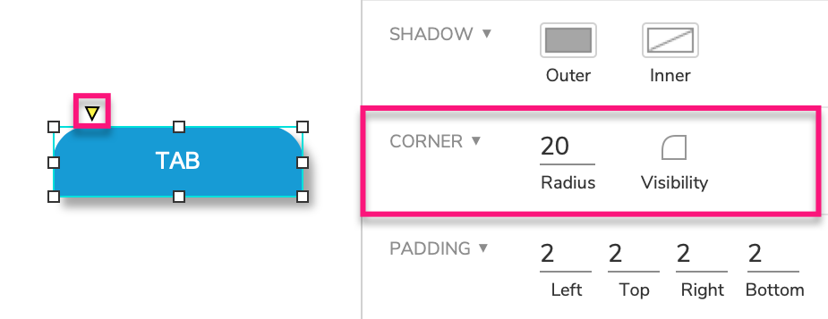 corner radius options for widgets