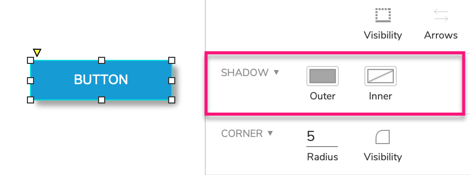 shadow options for widgets
