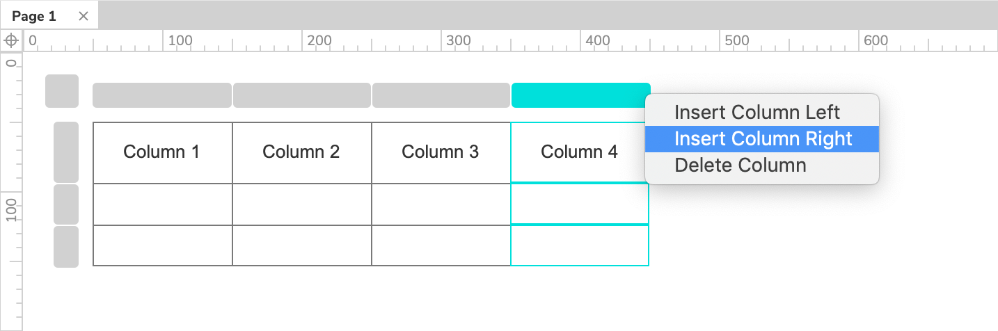 editing table widget rows and columns